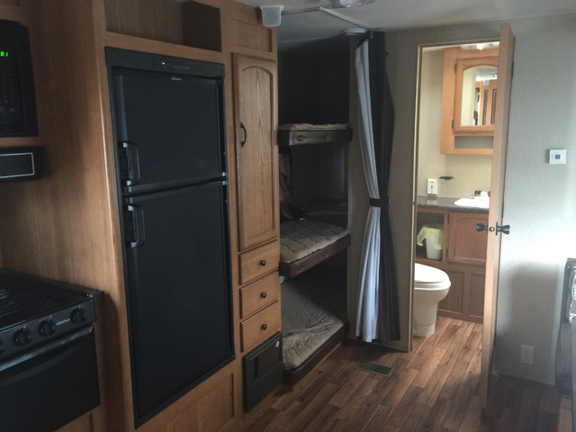inside a Tall Timbers rental RV