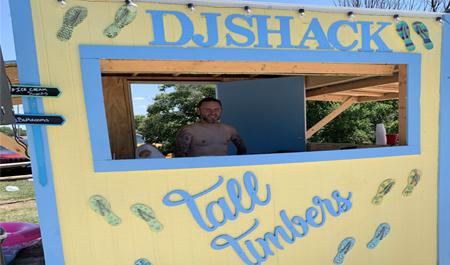the Tall Timbers dj shack